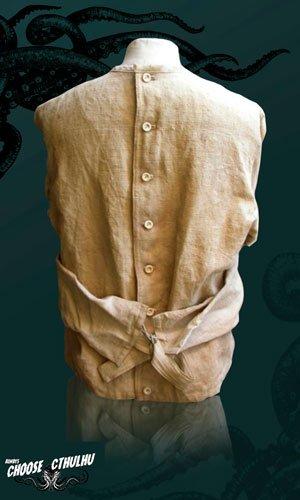 Parte trasera de la camisa de fuerza de Arhkam por Choose Cthulhu