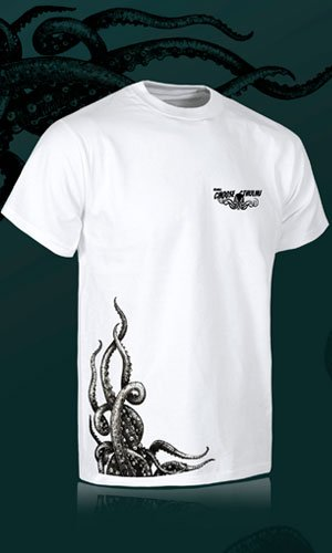 Camiseta de chico en blanco Choose Cthulhu